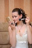 The bride and a make-up Royalty Free Stock Images