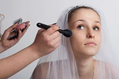 Bride make-up Stock Photo