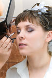 Bride make up Stock Photography
