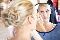 Bride make-up. Stock Photo