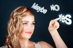 Bride Making Choice In A Marriage Proposal Concept Stock Photography