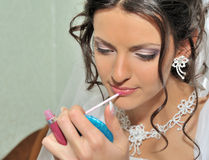 The bride making up Royalty Free Stock Image