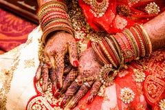 Bride with mehendi royalty free stock photos