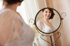 Bride mirror Stock Image