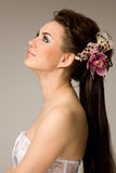 Bride with a modern hairstyle Royalty Free Stock Image