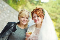 Bride with mother Royalty Free Stock Images
