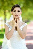 Bride in natural park Royalty Free Stock Photography