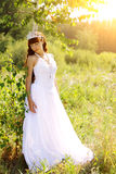 Bride on the nature Royalty Free Stock Photos