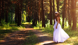 Bride on the nature Stock Images