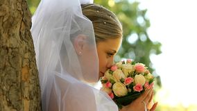 Bride On The Nature stock footage