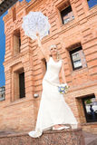 Bride on nature Royalty Free Stock Images