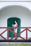 Bride near the old building Stock Photos