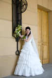 Bride Near The Wall Royalty Free Stock Images