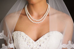 Bride neck line Royalty Free Stock Photos