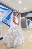 Bride next to mirror Royalty Free Stock Image