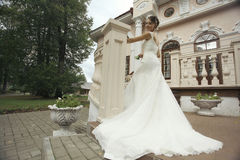 Bride in an old mansion Royalty Free Stock Photo