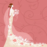 Bride On Pink Background Royalty Free Stock Photos
