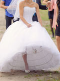 Bride on One Foot Stock Photo