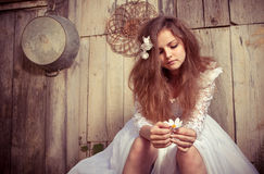 Bride at one with their life problems Royalty Free Stock Image