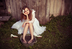 Bride at one with their life problems Royalty Free Stock Photography