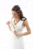 Bride with orchids Royalty Free Stock Photo