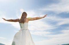 Bride outdoor Royalty Free Stock Image