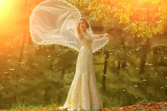 Bride outdoor in autumn Stock Images