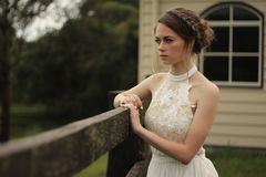 Bride in outdoor portrait Royalty Free Stock Photos