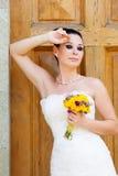 Bride outdoor portrait Stock Photos