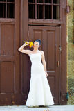 Bride outdoor portrait Royalty Free Stock Images