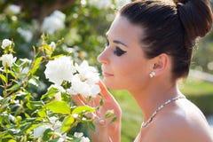 Bride outdoor portrait Stock Photo