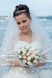 Bride outdoors Stock Image