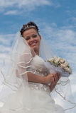 Bride outdoors Stock Images