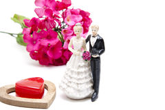 Bride pair with dear heart Royalty Free Stock Image