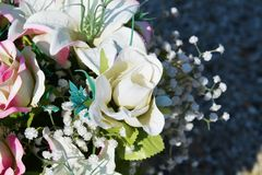 Bride paper roses Royalty Free Stock Images