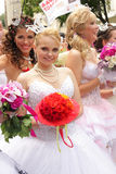 Bride parade Royalty Free Stock Photo