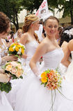 Bride parade Royalty Free Stock Images