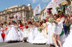 Bride parade Stock Image