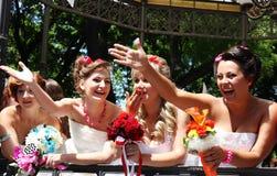 Bride parade Stock Photography