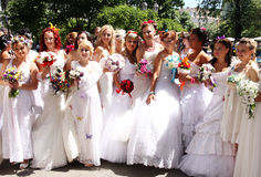 Bride parade Royalty Free Stock Image