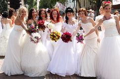 Bride parade Royalty Free Stock Photos