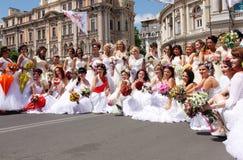 Bride parade Royalty Free Stock Photo