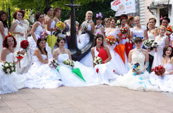 Bride parade Royalty Free Stock Image
