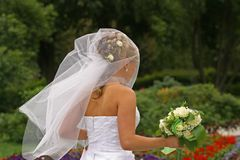 The bride in park Royalty Free Stock Images
