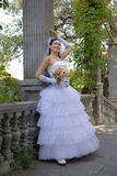 Bride in the park Royalty Free Stock Photos