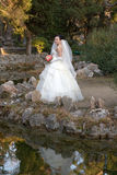 Bride in the park Royalty Free Stock Images