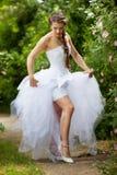 Bride in park Stock Image