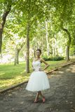 Bride in park Stock Photos