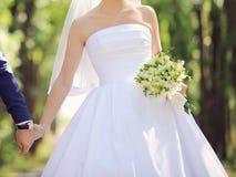 Bride at Park Royalty Free Stock Photos