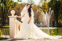 Bride in park Royalty Free Stock Photo